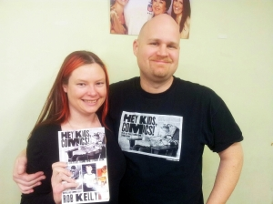 Me and Rob Kelly at the Hey Kids, Comics! book signing